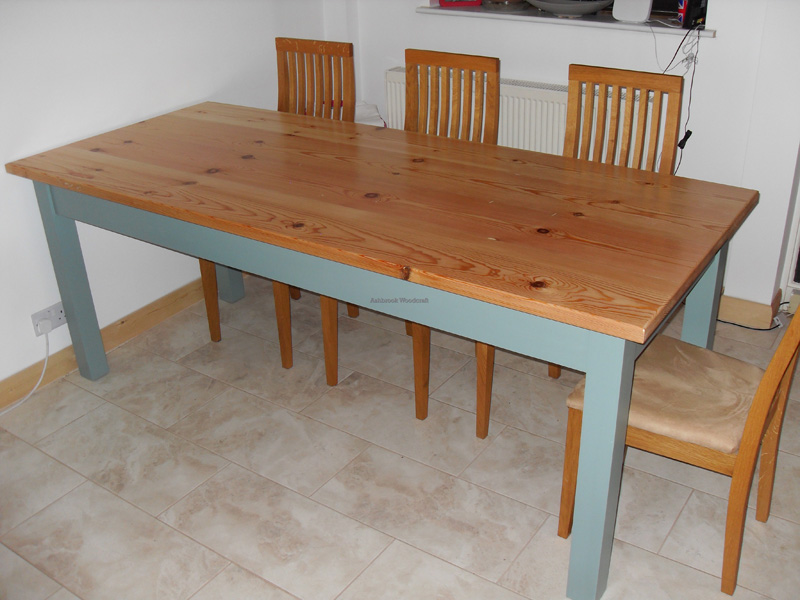 Pine Dining Room Table Bespoke Wooden Furniture Staffordshire