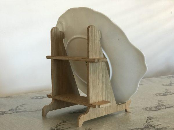 Plate Stand made from Oak Veneer