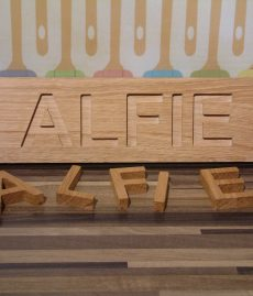 Solid Oak Wooden Name Jigsaw Puzzle