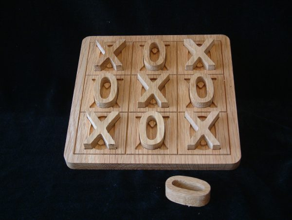 Noughts and Crosses Board Game made from Solid Oak